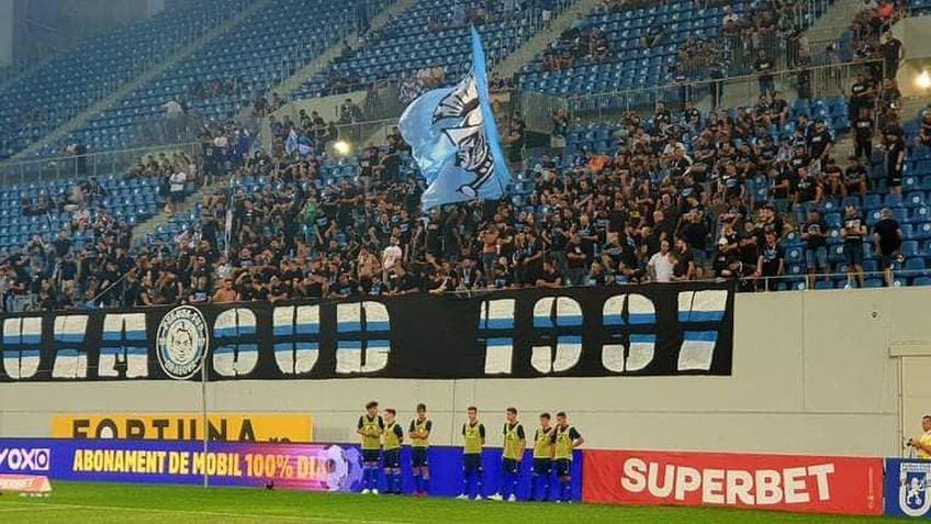 FCU Craiova - FCSB 0-1 | Galeria oltenilor îl susține în continuare pe antrenorul Adrian Mutu.