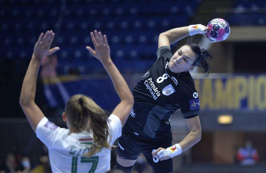 CSM București a câștigat partida cu Ferencvaros, din runda numărul 5 a Ligii Campionilor la handbal feminin, scor 25-19.