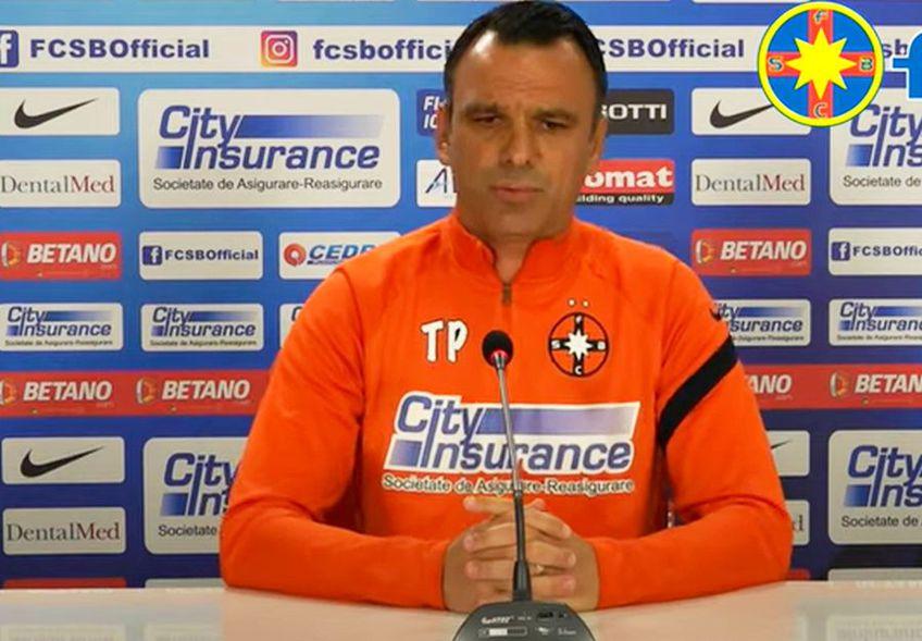 Toni Petrea (45 de ani), antrenorul celor de la FCSB, a comentat zvonurile privind o eventuală revenire a lui Laurențiu Reghecampf (45 de ani) la echipă.