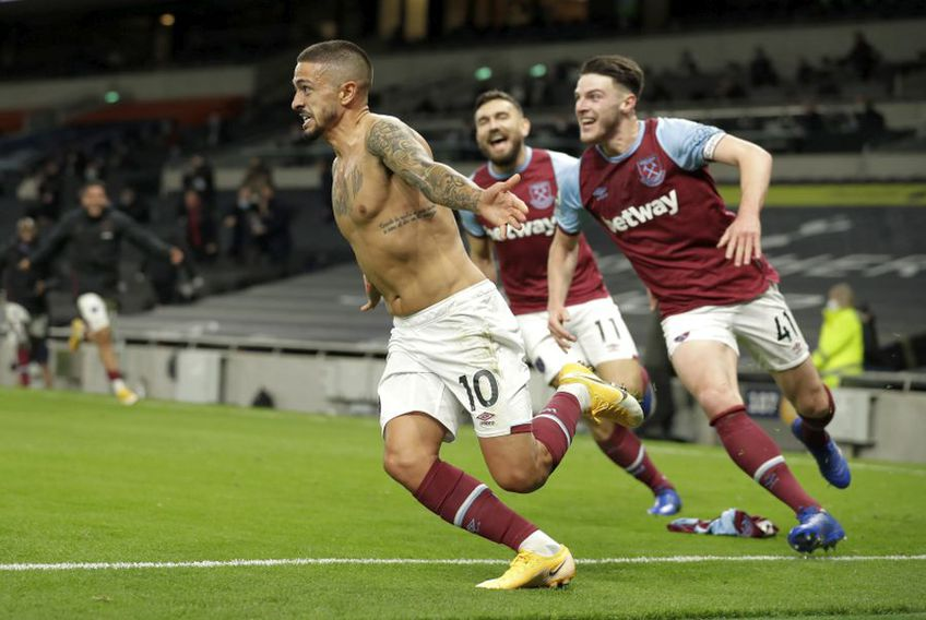 Manuel Lanzini a egalat în pentru West Ham în meciul cu Tottenham // foto: Guliver/gettyimages