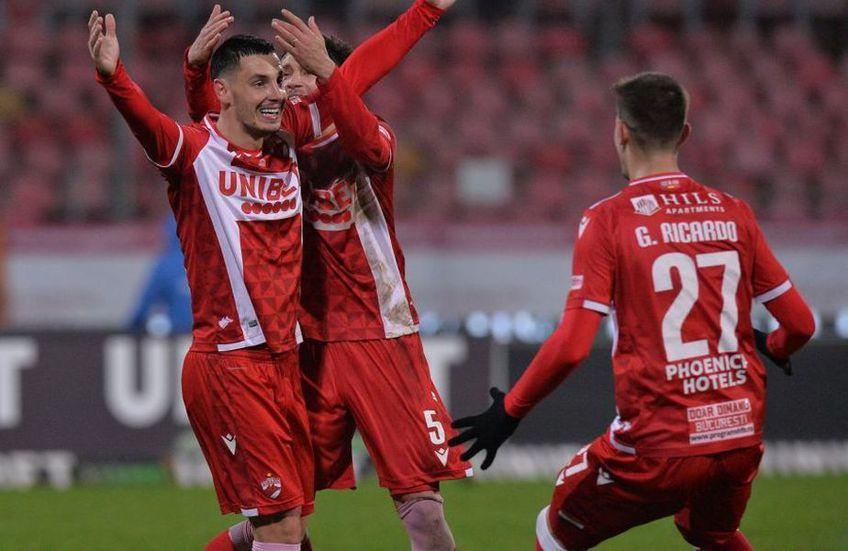 Paul Anton (stânga) a marcat 2 goluri pentru Dinamo în acest sezon