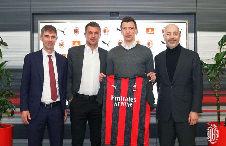 Mario Mandzukic, prezentat de AC Milan // foto: Twitter @ acmilan