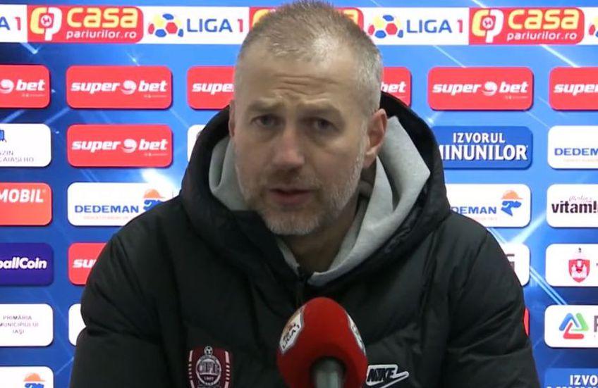 Edi Iordănescu (42 de ani), antrenorul celor de la CFR Cluj, continuă disputa de la distanță cu FCSB și se plânge de piedicile apărute în calea campioanei.