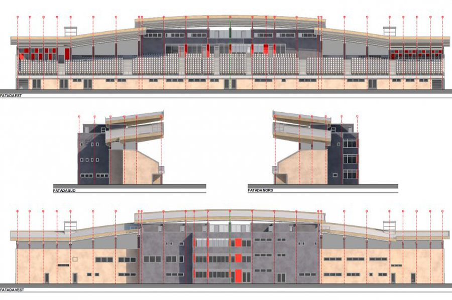 O nouă tribună se va ridica la arena din Miercurea Ciuc