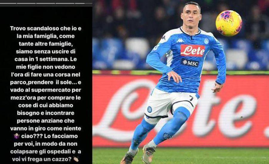 """Soția unui fotbalist al lui Napoli a răbufnit în plină pandemie: """"E scandalos pentru mine"""""""