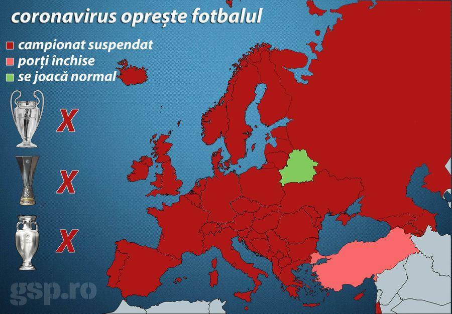 Pandemia de coronavirus a blocat fotbalul » Anunț oficial: nu retrogradează nimeni în acest sezon