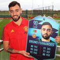 Fernandes are 3 goluri înscrise pentru Manchester United în 9 meciuri oficiale