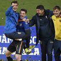 Marian Aioani, sărbătorind alături de Andrei Vlad calificarea la EURO 2021 / Sursă foto: frf.ro