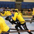 Cristina Neagu și colegele sale la un antrenament la Podgorica FOTO FRH