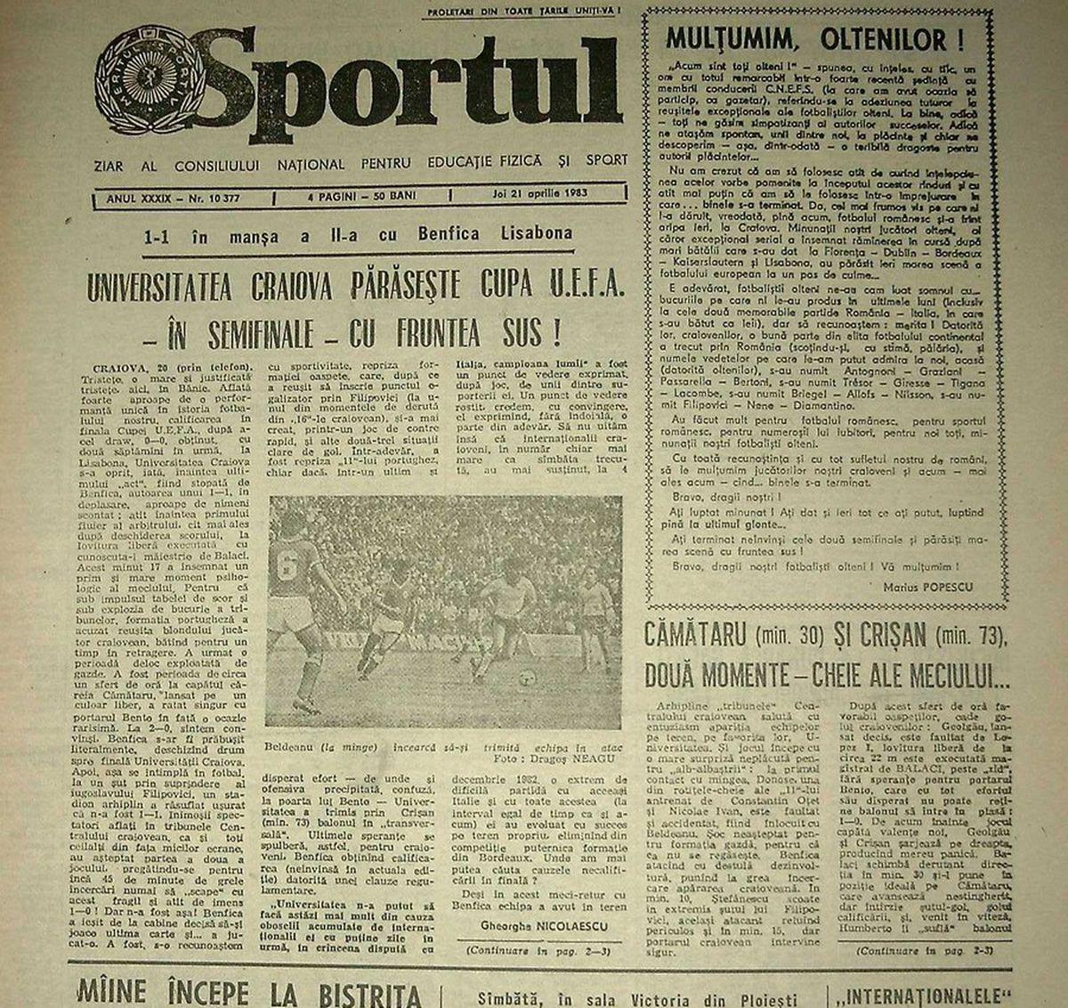 """RETRO GSP. Ziua în care toată România a plâns pentru Craiova. """"Vinovat e Mircea Lucescu, el i-a îndopat pe jucători cu stimulente!"""""""
