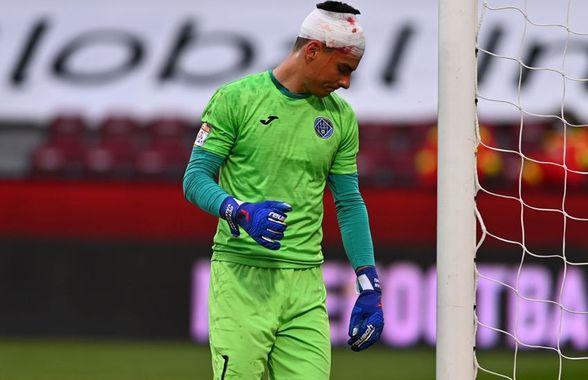 Imagini cu impact emoțional » Cum arată Vâlceanu, după lovitura la cap primită în meciul cu CFR + Cordea și-a pierdut un dinte