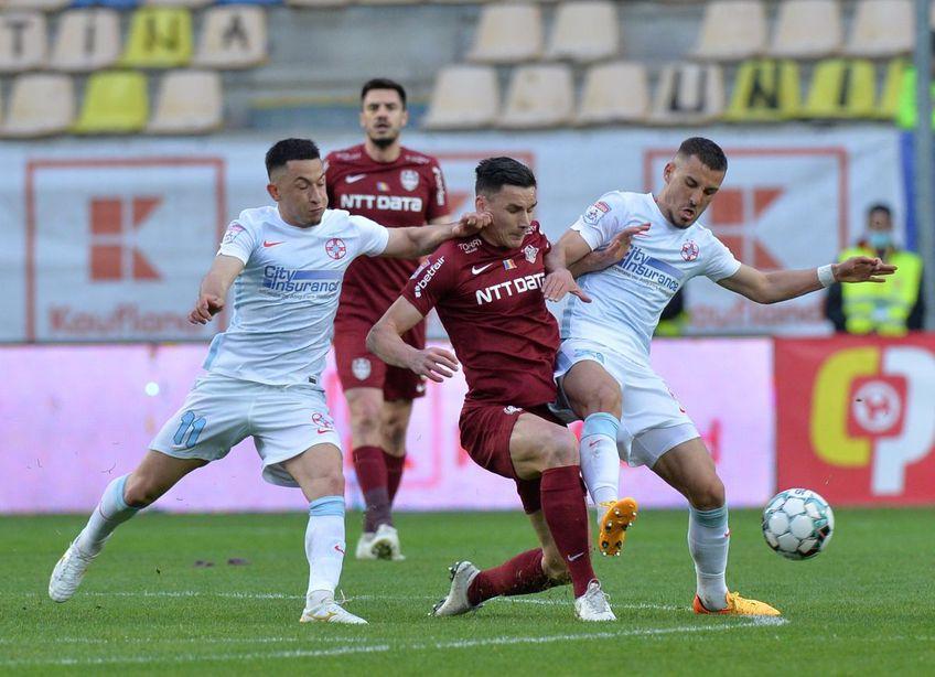 Moruțan, stânga, 21 de ani, a ajuns la FCSB de la FC Botoșani contra unui milion de euro