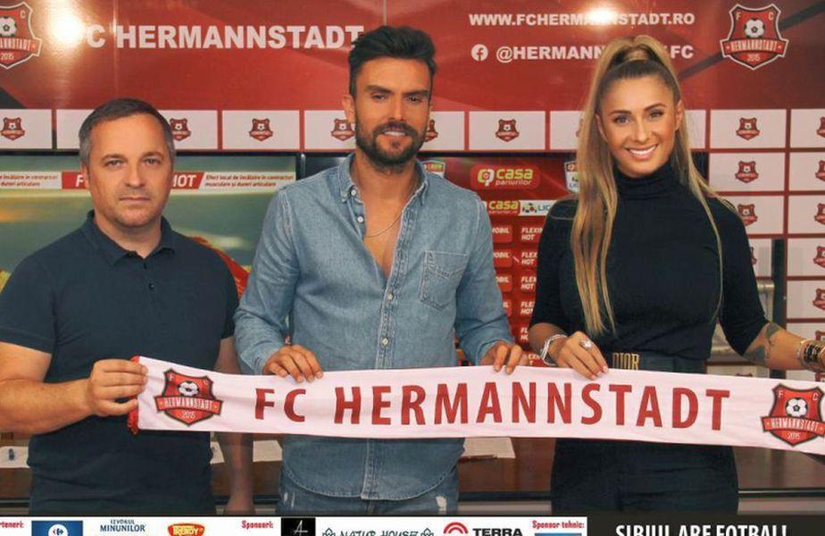 Ruben Albes a fost prezentat oficial la Hermannstadt  // foto: facebook @ FC Hermannstadt