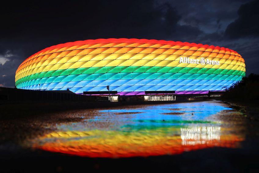 Așa au dorit nemții să arate Allianz Arena la meciul dintre Germania și Ungaria