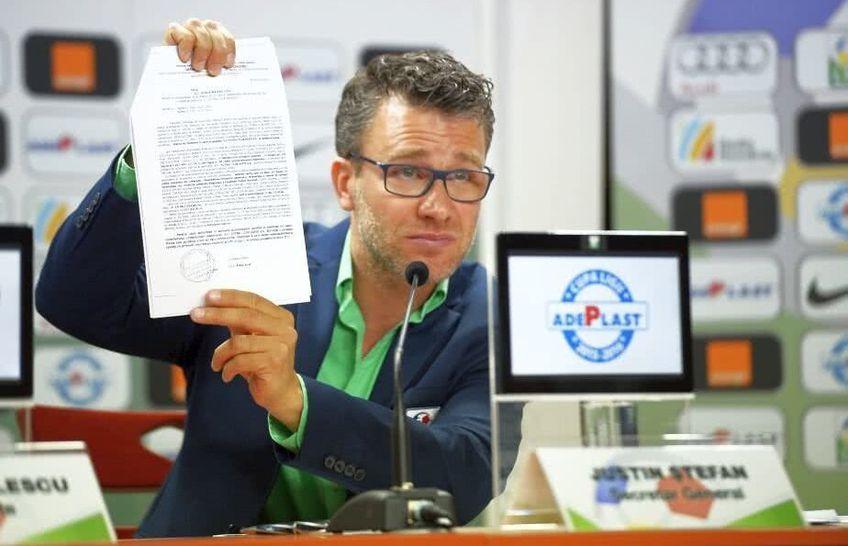 Justin Ștefan a tras din nou atenția echipelor din Liga 1