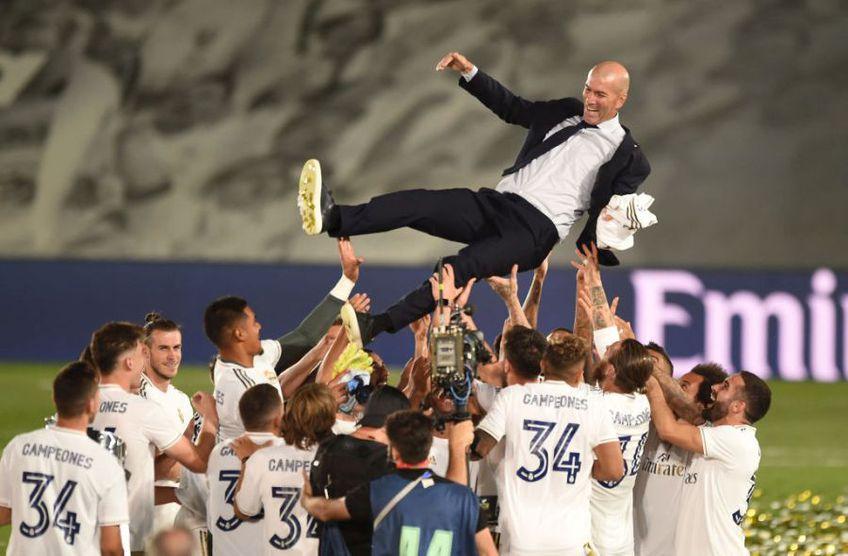 Real Madrid a câștigat titlul 34 din istorie cu Zinedine Zidane pe bancă // Sursă foto: Getty