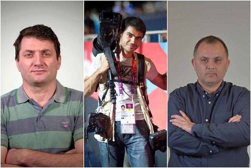 Echipa GSP la Tokyo: de la stânga la dreapta, Marian Ursescu, Raed Krishan și Justin Gafiuc