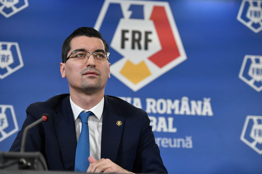 Răzvan Burleanu (37 de ani), președintele FRF, a comentat intrarea clubului Dinamo în insolvență.