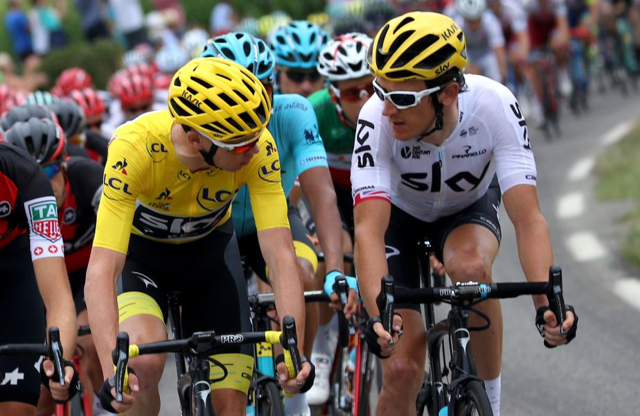Chris Froome și Geraint Thomas în Turul Franței în 2017 FOTO Guliver/GettyImages