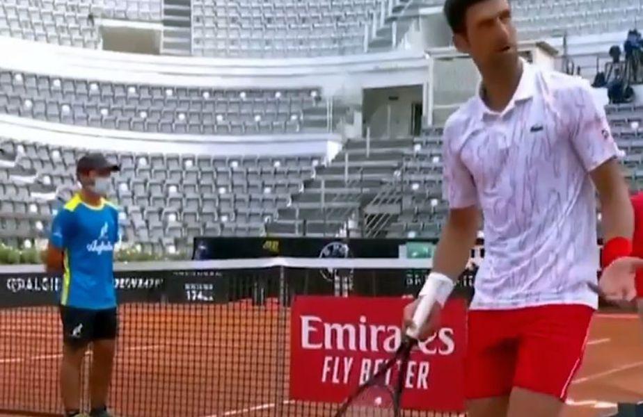 Novak Djokovic a fost încurcat de arbitru cu Federer