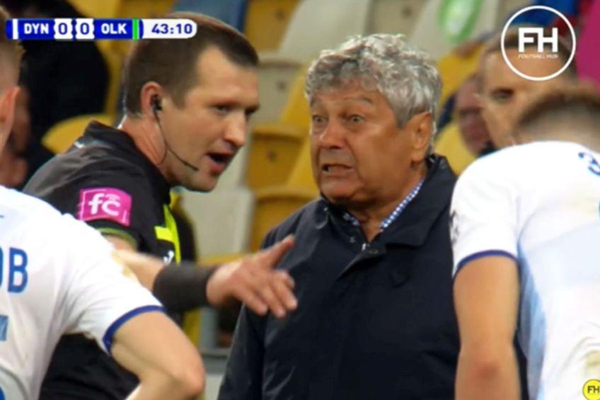 Lucescu, în culmea furiei, urlând la arbitru