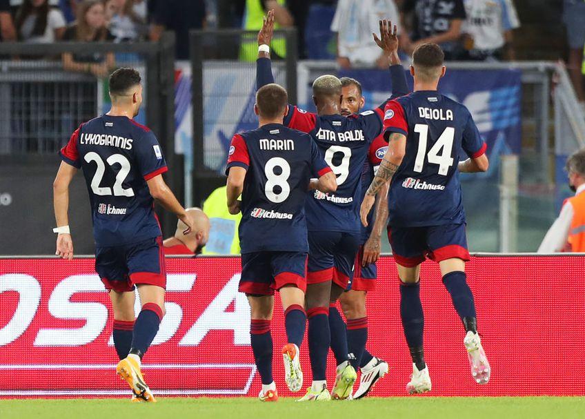 Vlad Dragomir a înscris primul său gol în Cipru / Sursă foto: Twitter@Pafos