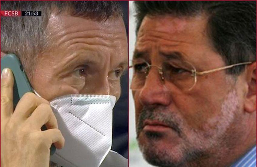 FCSB s-a impus în deplasare cu Academica Clinceni, scor 2-0. Cornel Dinu a caracterizat în termeni deplasați momentul în care Mihai Stoica a fost surprins vorbind la telefon în tribunele arenei din Călărași.