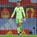 Thibaut Courtois, în Belgia - Danemarca 4-2 // foto: Reuters