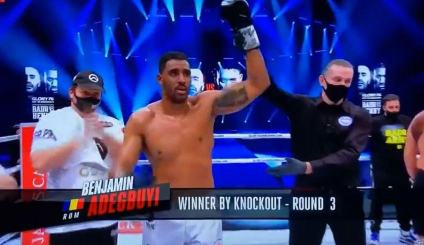 Benny Adegbuyi (35 de ani) l-a învins pe Badr Hari (36 de ani), prin KO tehnic, în runda cu numărul 3 a main event-ului din gala Glory 76!