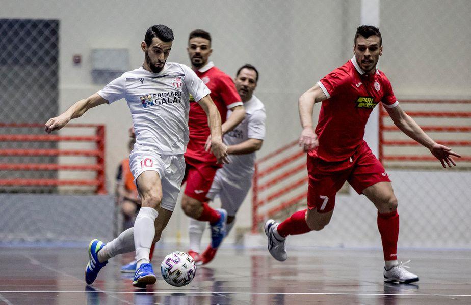CS United Galați, campioana României la Futsal, a fost eliminată în optimile de finală ale Ligii Campionilor. Gălățenii au pierdut în fața lui Kairat Almaty, scor 1-6.