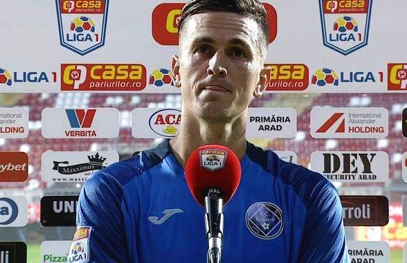"""Florin Gardoș, plin de nervi, după Sepsi - Clinceni 0-0: """"Nu-mi place așa, în mocirlă, să ne apărăm 90 de minute"""""""
