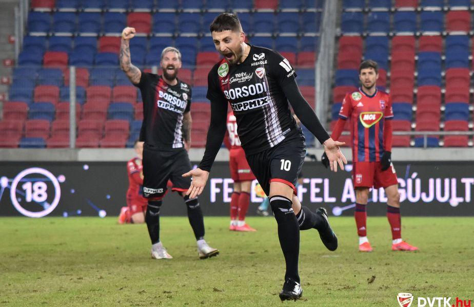 Gheorghe Grozav (30 de ani) a marcat un hat-trick în MOL Fehervar - Diosgyori VTK, scor 1-3.