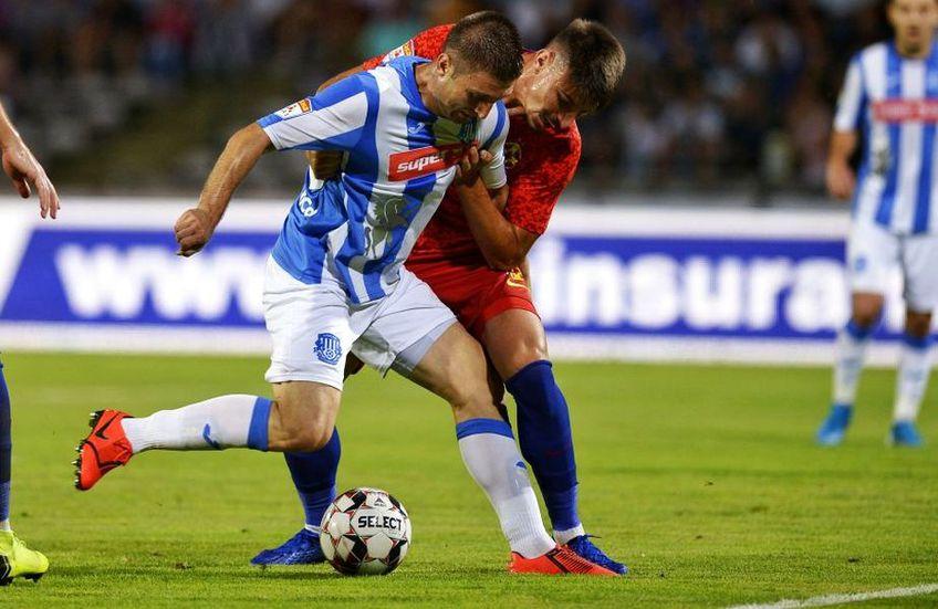 Andrei Cristea (albastru) și Iulian Cristea (roșu)