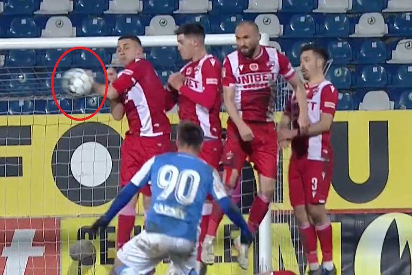 În minutul 38 al meciului dintre Poli Iași și Dinamo, la scorul de 0-0, moldovenii ar fi trebuit să primească o lovitură de la 11 metri.
