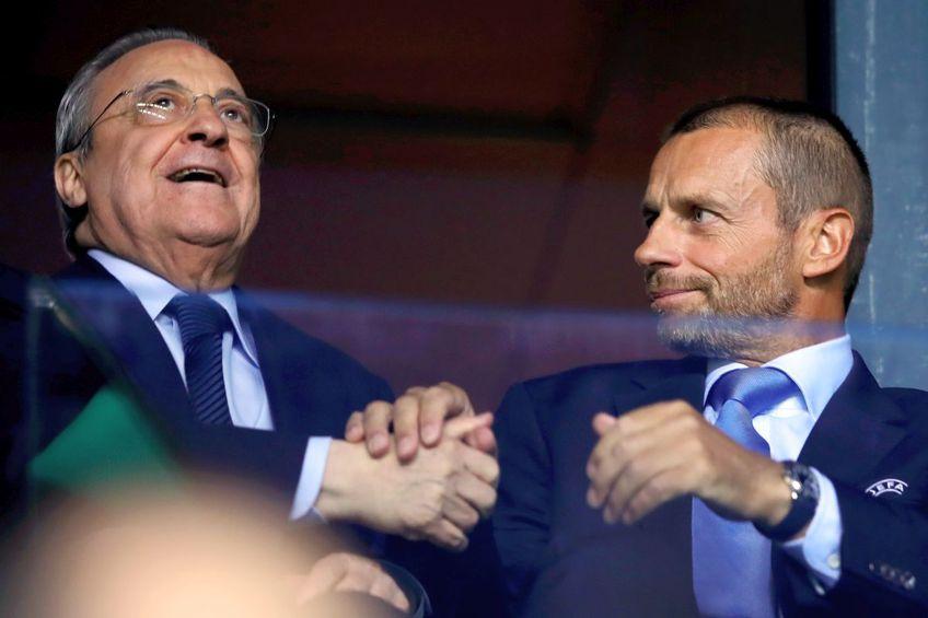 Aleksander Ceferin, președintele UEFA, și Florentino Perez, președintele Super Ligii // foto: Guliver/gettyimages