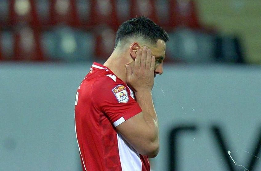 Dinamo a fost învinsă de UTA, scor 0-1, în a doua rundă a play-out-ului din Liga 1, și tocmai a bifat o bornă neagră în istoria clubului.