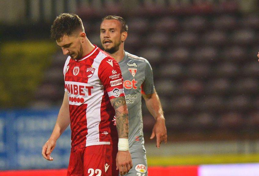 Dinamo a fost învinsă de UTA, scor 0-1. Deian Sorescu (23 de ani) a ratat un penalty și se consideră vinovat pentru eșec.
