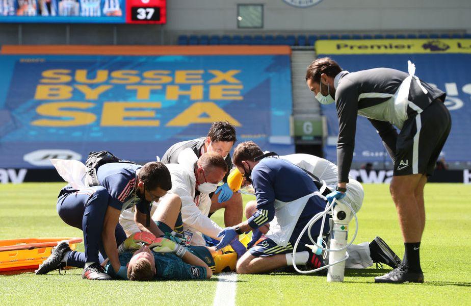 Brighton - Arsenal 2-1 » Bătaie şi nervi la restart. Plus o gravă accidentare!