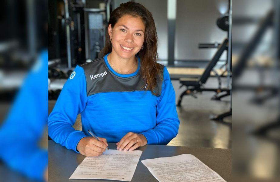 Transferul lui Martine Smeets la CSM București a fost oficializat azi de clubul din Capitală FOTO: csmbucuresti.ro