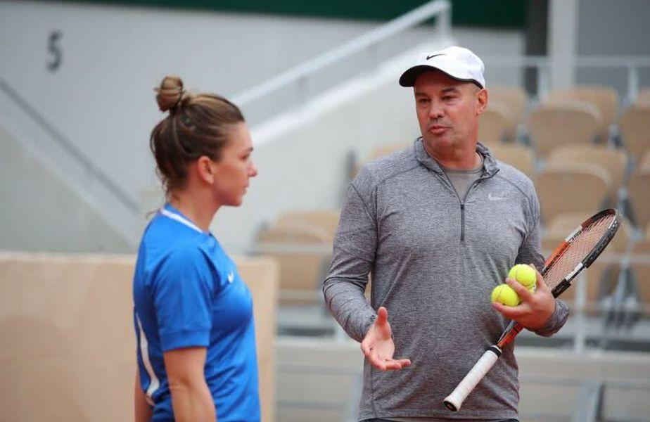 Simona Halep și Daniel Dobre la Roland Garros în 2019
