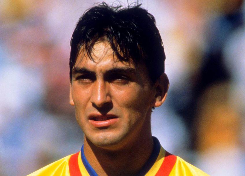 Ilie Dumitrescu în 1994, în tricoul echipei naționale, foto: