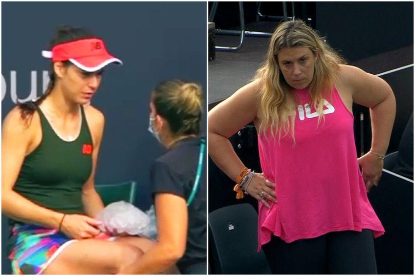 Sorana Cîrstea, lovitură în meciul cu Andrea Petkovic / FOTO: Captură @Digi Sport 2