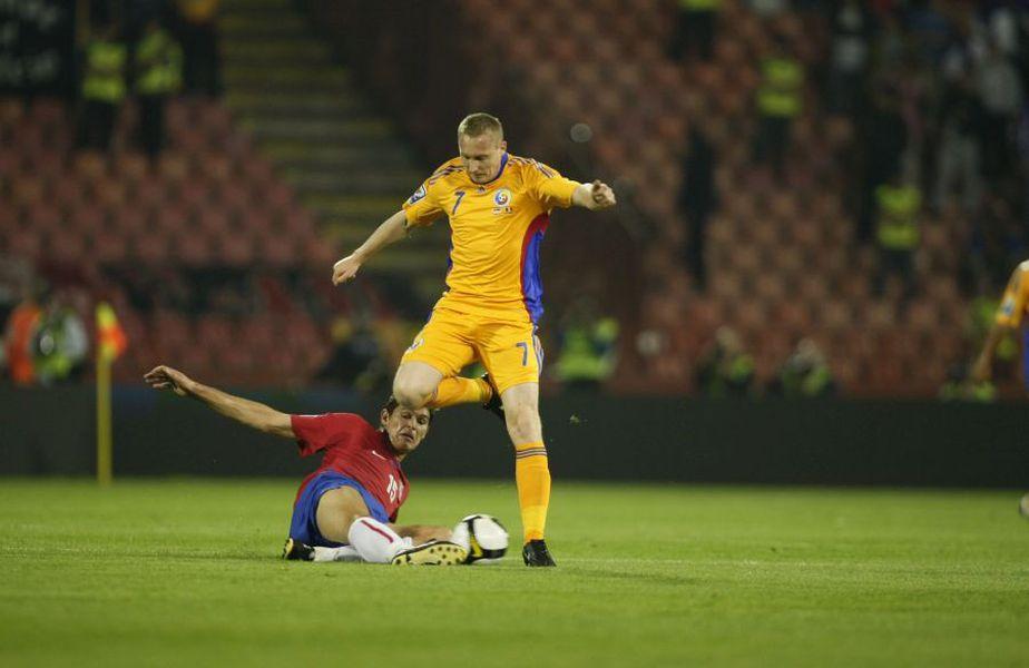 "Tiberiu Ghioane a reușit două goluri pentru ""tricolori"""