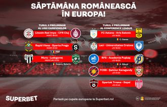 Săptămână românească în Europa: patru echipe și cinci stranieri bat la poarta gloriei!