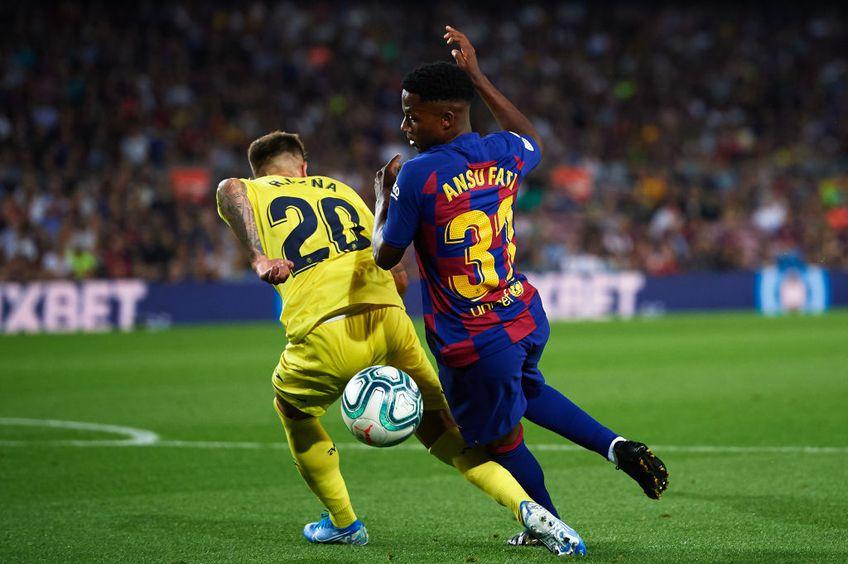 Impresarul Jorge Mendes îl va reprezenta pe Ansu Fati (17 ani), noul star al celor de la Barcelona.