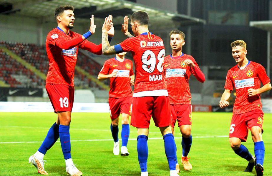 Nu mai puțin de 11 jucători eligibili pentru regula U21 au fost rulați de FCSB pe durata meciului