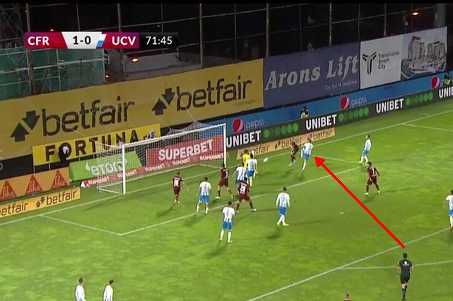 Marcel Bîrsan a comis-o! Penalty nedat și roșu neacordat în CFR Cluj - CS Universitatea Craiova 1-0