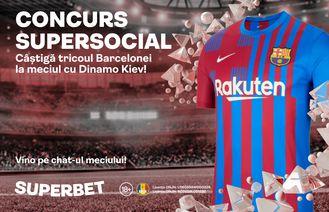 Prinde cea mai tare cotă la Barcelona – Dinamo Kiev și câștigă tricoul catalanilor! Vino pe chat-ul meciului din SuperSocial!