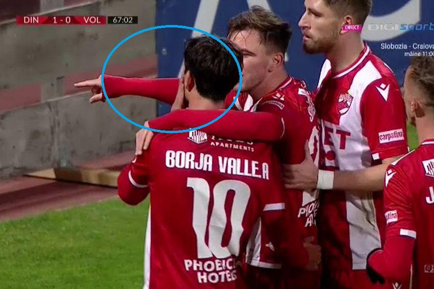 Gestul lui Borja Valle / Captură TV Digi Sport