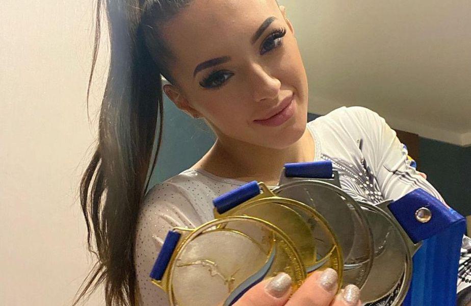 Larisa Iordache, 24 de ani, a cucerit 4 medalii la Campionatele Europene de gimnastică de la Mersin, Turcia.